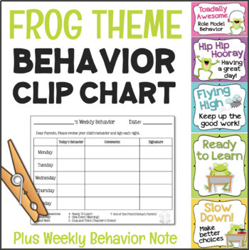 Behavior Chart - Frog Theme Clip Chart