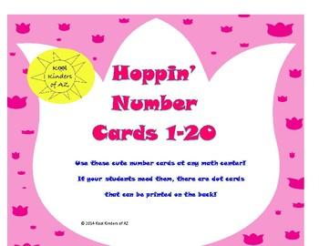 Hoppin' Number Cards 1-20 *Spring Freebie*