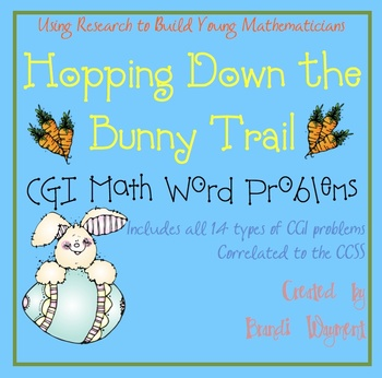 Hopping Down the Bunny Trail - CGI Math Word Problems