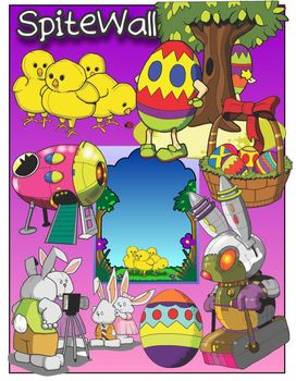 Hopping into Spring Vacation Clip Art for Easter Themed Ac