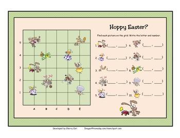 Hoppy Easter Coordinate Grid Activity