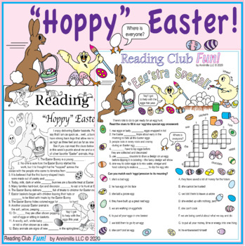 Bundle: 'Hoppy' Easter Two-Page Activity Set and Crossword Puzzle