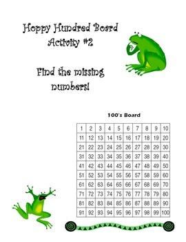 Hoppy Hundred Board Activity Number 2