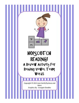 Hopscotch Reading!  A Review Activity for Reading Vowel Te