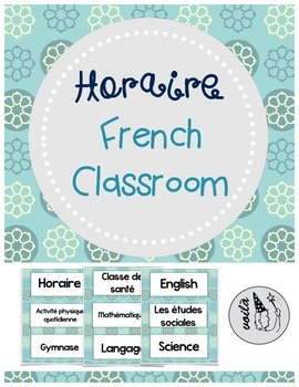 French Timetable-Horaire
