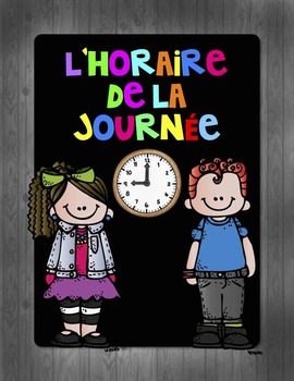Horaire de classe - Daily schedule FRENCH - NEW 2015