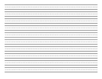 Horizontal Handwriting Paper