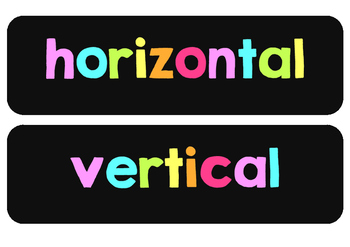 Chalkboard Colorful Horizontal Vertical Poster