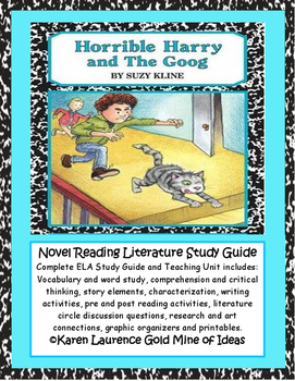 Horrible Harry and The Goog by Suzy Kline ELA Reading Lite