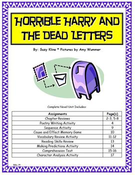 Horrible Harry and the Dead Letters Novel Unit