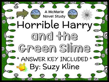 Horrible Harry and the Green Slime (Suzy Kline) Novel Stud