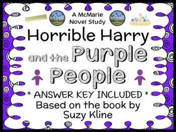 Horrible Harry and the Purple People (Suzy Kline) Novel St