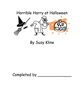 Horrible Harry at Halloween Suzy Kline Reading Comprehensi