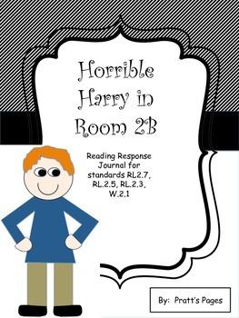 Horrible Harry in Room 2B Reading Response Journal