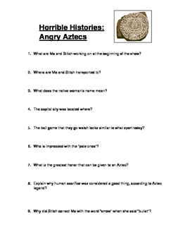 Horrible Histories: Angry Aztecs Video Guide