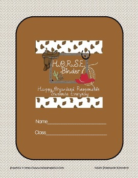 Horse {Western or Cowboy} Binder Cover