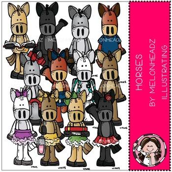 Melonheadz: Horses clip art - COMBO PACK