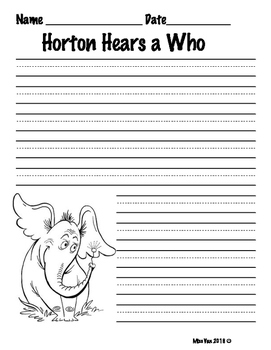 Horton Hear a Who Opinion writing
