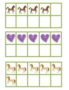 Hose Themed Spring Time 10 Frame Pocket Chart Game