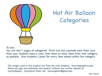 Hot Air Balloon Categories