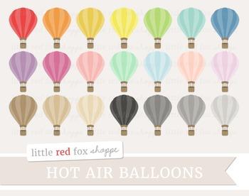 Hot Air Balloon Clipart; Travel