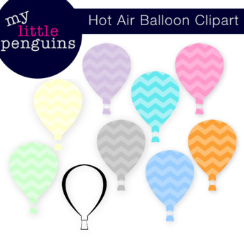 Hot Air Balloon Clipart (clip art 300 ppi)