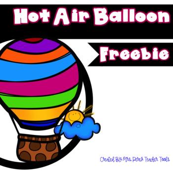 Hot Air Balloon Freebie