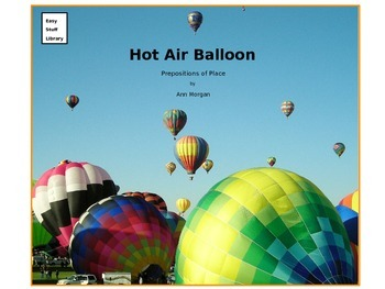 Hot Air Balloon - Prepositions of Place ESOL and sub plans