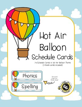 Hot Air Balloon Schedule Cards