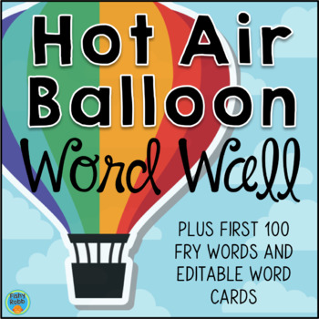 Word Wall with Sight Words - Hot Air Balloon theme