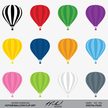 Hot Air Balloons Clip Art - Hot Air Balloon