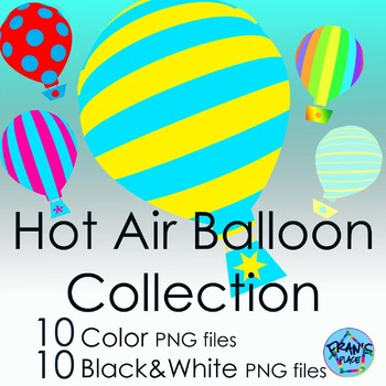 Clip Art Hot Air Balloons