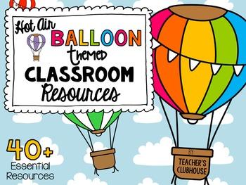 Hot Air Balloons Theme Decor Pack
