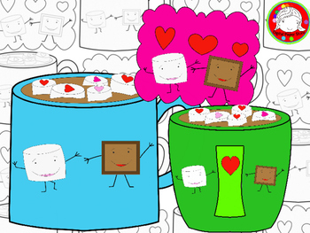 Hot Chocolate Love Clipart (Personal & Commercial Use)