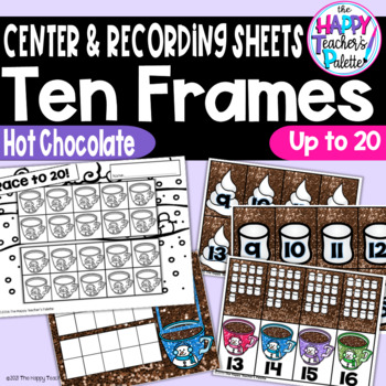 Hot Chocolate Ten Frames 0-20 ~Perfect for Mini-erasers~