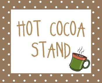 Hot Cocoa Stand Props