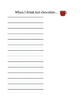 Hot Cocoa Writing Paper