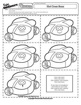 Hot Cross Buns - Nursery Rhyme Activity