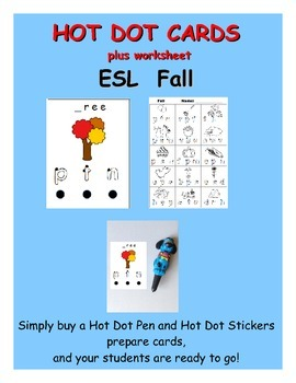 Hot Dot Activity Cards - Fall (ESL)