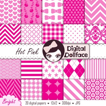 Digital Paper - Hot Pink