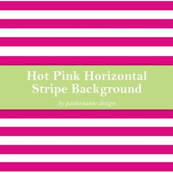 Hot Pink Horizontal Stripe Background