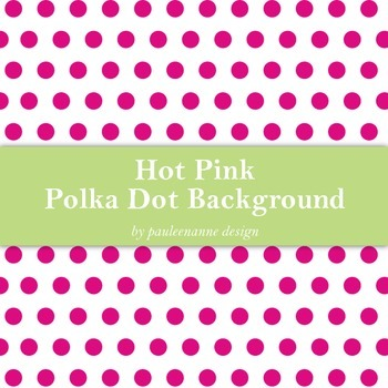 Hot Pink Polka Dot Background