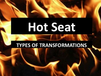 Hot Seat Activity -- Types of Transformations