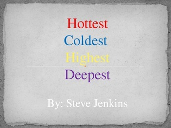 Hottest Coldest Highest Deepest