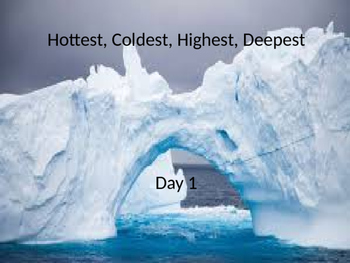 Hottest Coldest Highest Deepest power point and interactiv