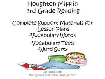 Houghton Mifflin 3rd Grade Reading Support Materials