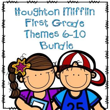 Houghton Mifflin First Grade Themes 6-10 Resource Pack Bundle