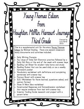 Houghton Mifflin Harcourt Journeys 2014 Grade 3 Young Thom