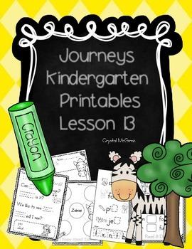 Journeys Lesson 13 Kindergarten Supplemental Materials
