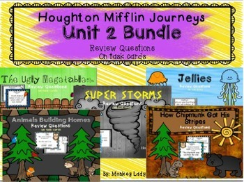 Houghton Mifflin Journeys Unit 2 Review Question Task Cards